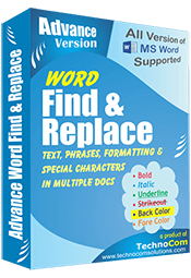 Advance Word Find and Replace