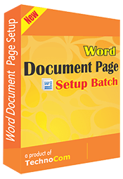 Word Document Page Setup Batch