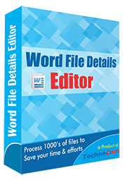 Word File Details Editor
