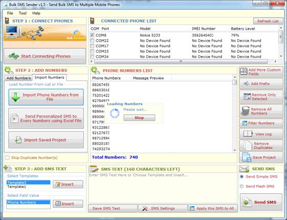 Bulk SMS Sender full screenshot