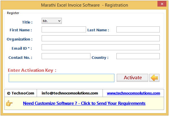 Help Working Of Marathi Excel Invoice Software - Key invoice software