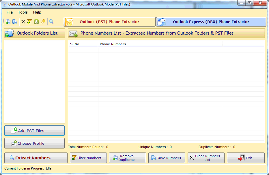 Click to view Outlook Mobile & Phone Number Extractor screenshots