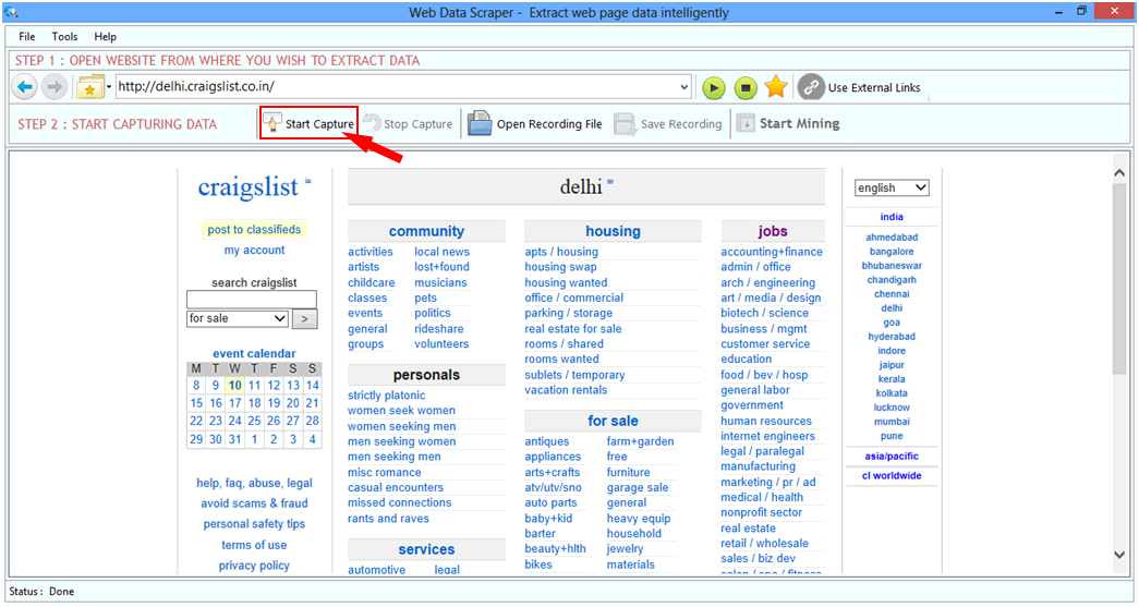 Click to view Web Data Scraper screenshots