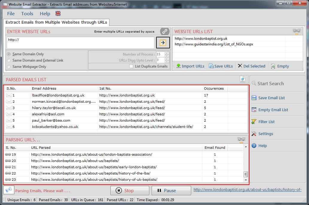 Website Email Extractor full screenshot